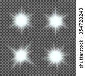 vector set of glowing light... | Shutterstock .eps vector #354728243