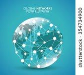 global  communication concept... | Shutterstock .eps vector #354734900