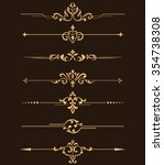 vintage set of decorative... | Shutterstock . vector #354738308
