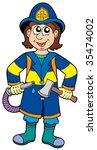 fireman with axe   vector...   Shutterstock .eps vector #35474002