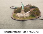 Helicopter View Of Statue Of...