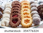 different christmas cookies on... | Shutterstock . vector #354776324