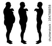 vector concept 3d fat... | Shutterstock .eps vector #354788858