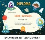 preschool elementary school... | Shutterstock .eps vector #354789554