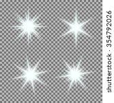 vector set of glowing light... | Shutterstock .eps vector #354792026
