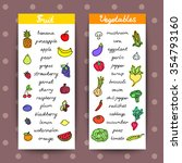 fruits and vegetables banners.... | Shutterstock .eps vector #354793160