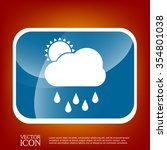 weather icon. sun behind the...   Shutterstock .eps vector #354801038