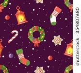 Bright Happy Holidays Pattern...