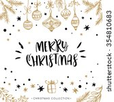 merry christmas. holiday... | Shutterstock .eps vector #354810683