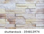 Surface Wall Of Stone Wall...