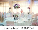 restaurant decorated with pink... | Shutterstock . vector #354819260