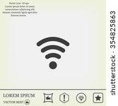 wi fi  web icon. vector design   Shutterstock .eps vector #354825863
