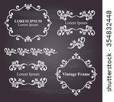 design elements  vintage... | Shutterstock .eps vector #354832448