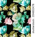 flowers texture pattern 2 | Shutterstock . vector #354832478