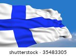 finnish flag. | Shutterstock . vector #35483305