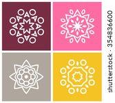 four beautiful circular... | Shutterstock .eps vector #354836600