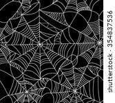 halloween spider web seamless...   Shutterstock . vector #354837536
