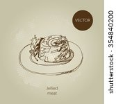 vector hand drawn food sketch... | Shutterstock .eps vector #354840200