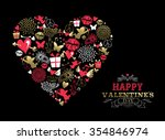 valentines day greeting card ... | Shutterstock .eps vector #354846974