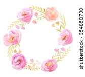 Floral Frame With Hand Painted...