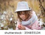long shaggy girl in jacket ...   Shutterstock . vector #354855134