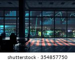 modern office window view with... | Shutterstock . vector #354857750