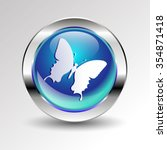 vector butterfly insect art... | Shutterstock .eps vector #354871418