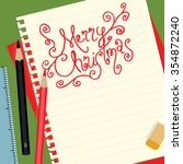 merry christmas background on... | Shutterstock .eps vector #354872240