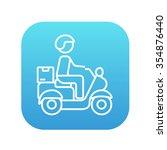 man carrying goods on bike line ...   Shutterstock .eps vector #354876440