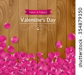 valentines day card with rose... | Shutterstock .eps vector #354879350