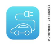 electric car line icon for web  ... | Shutterstock .eps vector #354880586