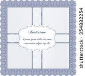 invitation template. detailed... | Shutterstock .eps vector #354882254
