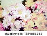 vintage flowers  vintage flower ... | Shutterstock . vector #354888953