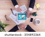 business team concept   e... | Shutterstock . vector #354892364