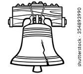 liberty bell illustration | Shutterstock .eps vector #354893990