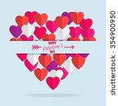 happy valentine's day. paper... | Shutterstock .eps vector #354900950