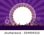 vector of amusement park with... | Shutterstock .eps vector #354904310