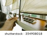 making a model boat indoors ... | Shutterstock . vector #354908018