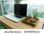 modern workplace tabletop at... | Shutterstock . vector #354909314