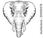 elephant | Shutterstock .eps vector #354909578