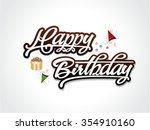 abstract brown happy birthday... | Shutterstock .eps vector #354910160