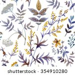 watercolor seamless pattern... | Shutterstock . vector #354910280