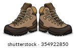 hiking shoes  boots  vector... | Shutterstock .eps vector #354922850
