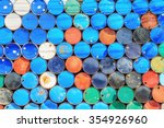 the photo of oil barrels... | Shutterstock . vector #354926960