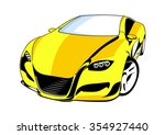 yellow car | Shutterstock .eps vector #354927440