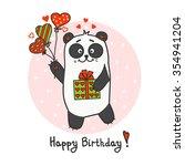happy birthday greeting card...   Shutterstock .eps vector #354941204