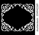 vintage baroque frame scroll...   Shutterstock .eps vector #354942269