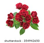 Stock photo bouquet of roses with leaves 354942650