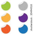 old stickers | Shutterstock .eps vector #35494510