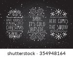 handdrawn christmas badges with ... | Shutterstock .eps vector #354948164